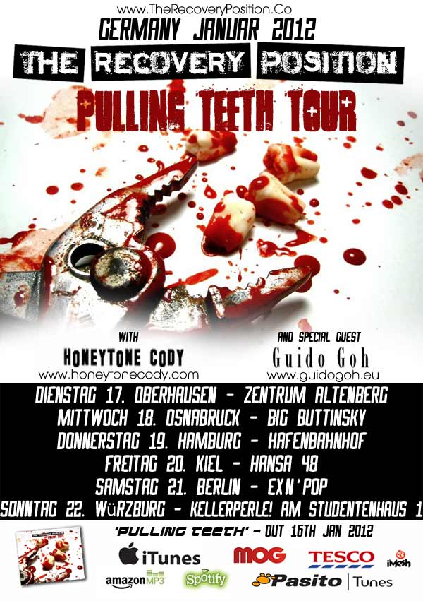 The Pulling Teeth Tour Poster - Part of The Welcome Noise 2012 German Tour.