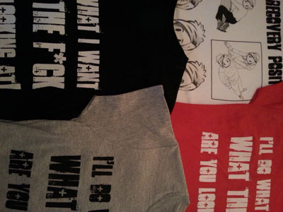 Mix T's - Red, Black, Gray, White